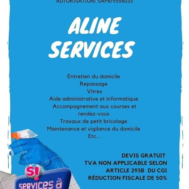 Aline Services, aide ménagère, en Gironde