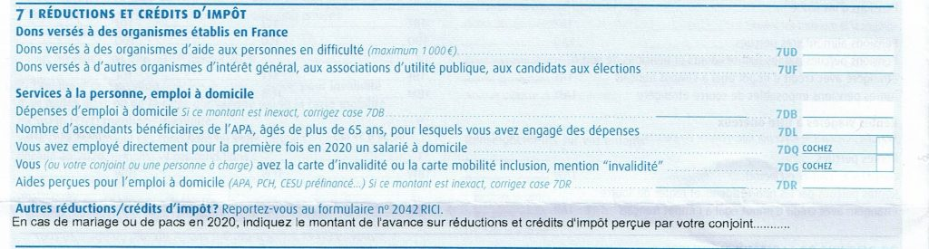 déclaration revenu 2021