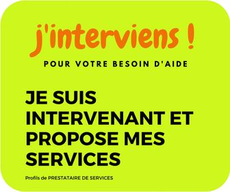 J'interviens et propose mes services